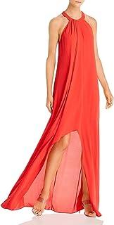 BCBG Max Azria Womens Hi-Low Halter Formal Dress