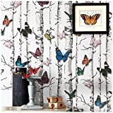 """Butterfly Wallpaper, H2MTOOL Removable Self Adhesive Wallpaper Peel and Stick(17.7"""" x 78.7"""", Butterfly)"""