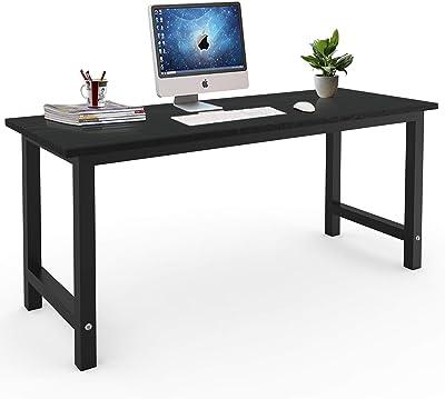 Computer Desk, Modern Study Desk,Simple Style Writing Desk,63 inch Large Workstation for Home Office,Black