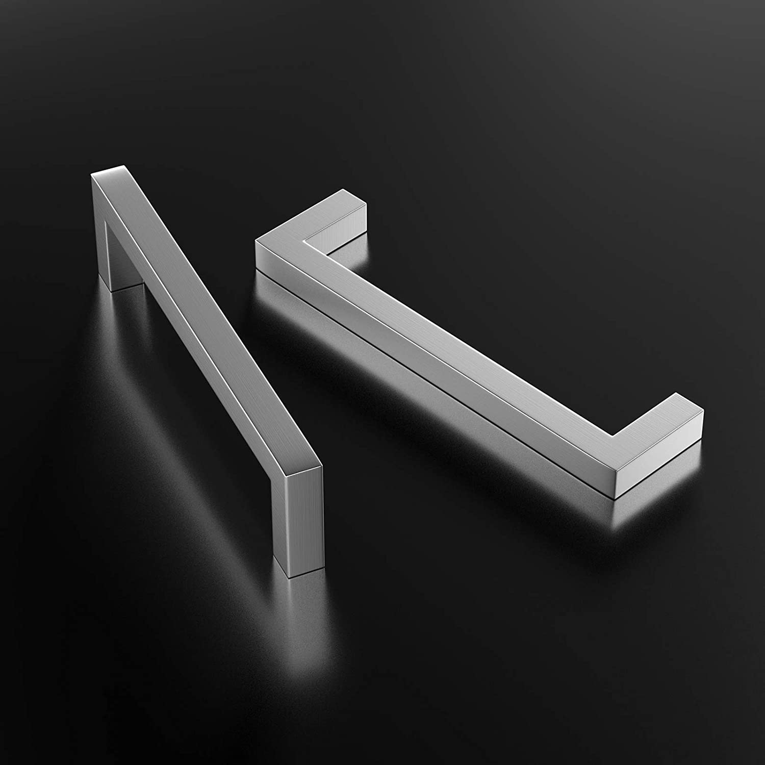 10 Pack 64mm Cupboard Handles Stainless Steel T Bar Pulls Brushed Stainless Steel Cupboard Drawer Bedroom Hardware Pulls
