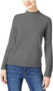 KAREN SCOTT Womens Gray Heather Long Sleeve Turtle Neck Blouse Sweater AU Size:18
