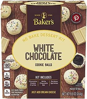 Baker's White Chocolate Cookie Balls No Bake Dessert Kit (8.6 oz Boxes, Pack of 6)