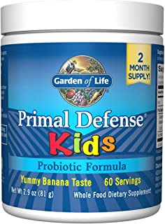 Garden of Life Whole Food Probiotic for Kids - Primal Defense HSO Probiotic Formula Kids Dietary Supplement, 2.9oz (81g) V...