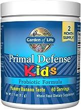 Garden of Life Whole Food Probiotic for Kids - Primal Defense HSO Probiotic Formula Kids Dietary Supplement, 2.9oz (81g) Vegetarian Powder