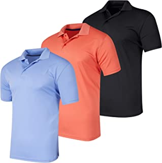 3 Pack: Men's Quick-Dry Short Sleeve Athletic Performance...