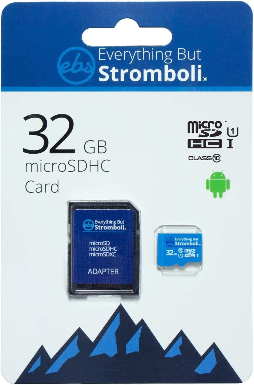 Everything But Stromboli 32GB MicroSD Memory Card Works with Wyze Cam Outdoor, Wyze Cam v3 Smart Camera Class 10 UHS-I (EBS-32TF-U1) Bundle with (1) Everything But Stromboli MicroSDHC & SD Card Reader