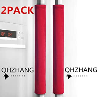 QHZHANG Refrigerator Door Handle Covers Protective Electrical Kitchen Appliances Gloves (Long, red)