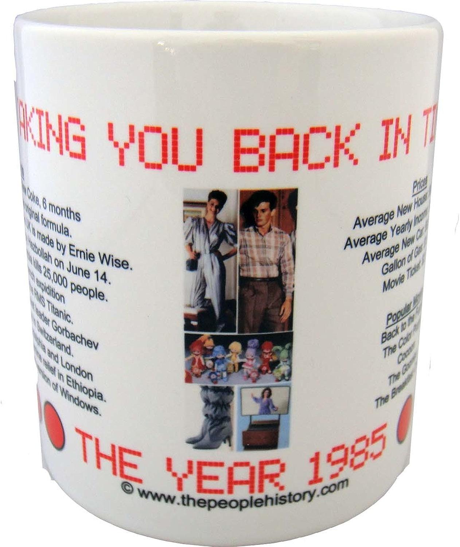 1985 Mug à café avec -1985 année au cours de l'histoire