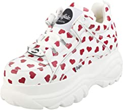 Buffalo London 1339-14 Womens White/Red Hearts Trainers