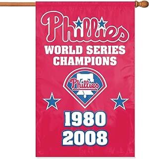 Party Animal Philadelphia Phillies- 2 Time Champs Banner MLB Flag