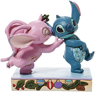 Enesco Disney Traditions Angel and Stitch Mistletoe Figurine