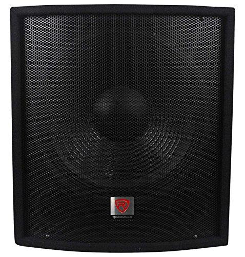 Rockville SBG1158 15' 800W Passive Pro DJ Subwoofer, MDF Cabinet/Pole Mount