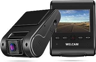 Máy thâu hình đặt trên xe ô tô – WELCAM Car Dash Cam 2.4″ LCD FHD 1080p 170° Wide Angle Dashboard Camera Recorder with G-Sensor, WDR, Loop Recording