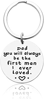 Dad Gifs BIrthday Father Day Keychain from Daughter Son Personalized Keyring Jewelry Christmas Gif for Father in Law Stepd...