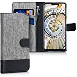 kwmobile Wallet Case for LG G7 ThinQ/Fit/One - Fabric and