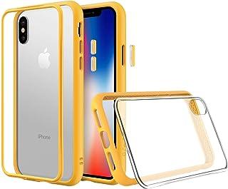 RhinoShield(ライノシールド) iPhone XS用 [Mod NX] モジュラーケース カスタマイズ可 衝撃吸収 高耐久 保護カバー ワイヤレス充電&カメラレンズ対応 - イエロー耐衝撃バンパー&クリア背面