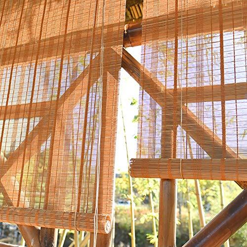 HWL Estor Enrollable Bambú Cortinas enrollables for Ventana de la Puerta, 0,75 m / 0,95 m / 1,15 m / 1,35 m Parasol, Easy Fit Cortina de Interior al Aire Libre (Size : 115×250cm)