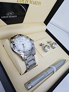 Louis Martin watch set for men and a pen and cupcake