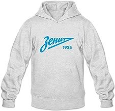 Men's Zenit St Petersburg Long Sleeves Hoodies Sweatshirt Black Custom By Rahk
