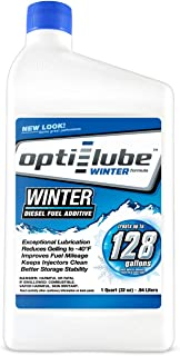 Opti-Lube Winter Formula Anti-Gel Diesel Fuel Additive: Quart Treats up to 128 Gallons