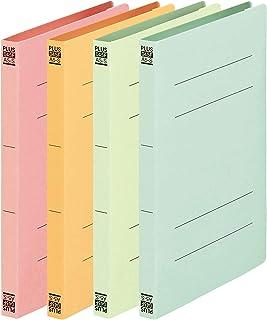 プラス フラットファイル A5縦(A4書類二つ折り収容)4色セット NO.045F