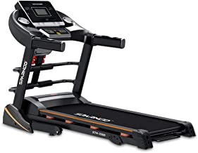 Sparnod Fitness STH-3500 (4 HP Peak) Automatic Treadmill (Free Installation Service) - Foldable Motorized Running Indoor T...