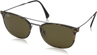 RAY-BAN RB4286 Square Sunglasses, Havana/Dark Brown, 55 mm