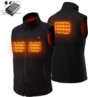 Sunbond Heated Vest with Rechargeable 5V Battery Pack,Washable Temperature Adjustable Electric Heated Vest for Women Men Outdoor Skiing Hiking Camping