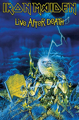 Iron Maiden Póster Textile Flag Live After Death Oficial Nuevo Azul 70Cm X 106Cm
