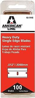 American Safety Razor 66-0448 Heavy-Duty Single Edge Razor Blades, 100-Pack