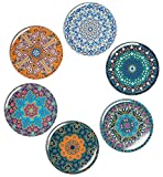 BOHORIA® Premium Design Untersetzer (6er Set) - Dekorative Untersetzer für Glas, Tassen, Vasen, Kerzen auf ihrem Esstisch aus Holz, Glas oder Stein (r& | 9cm) (Jumeirah)