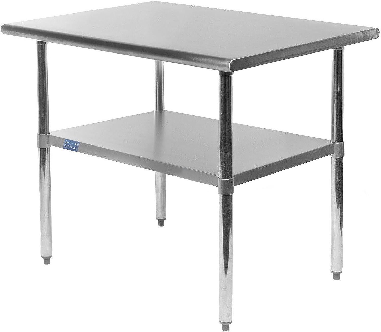 Work Table Food Prep Worktable Restaurant Supply Stainless Steel (18  X 24 )
