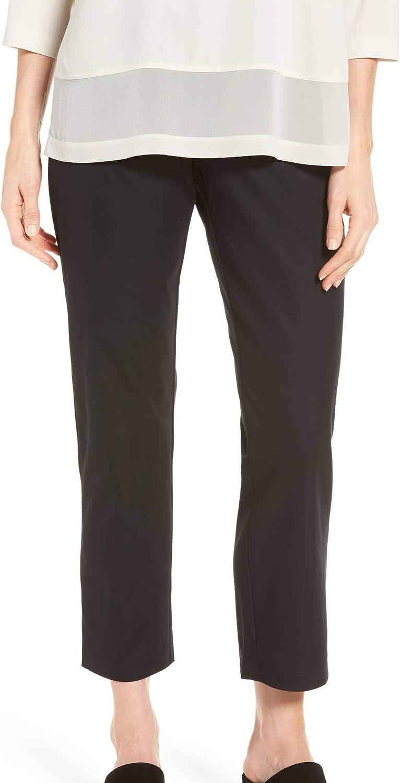 EILEEN FISHER Women's Slim Side-zip Ankle Casual Pants