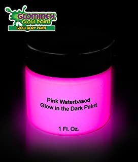 1 oz Glow in The Dark Body Paint for Parties - Glow Make-up Bodypainting for Valentines Day Events & Parties - Pink