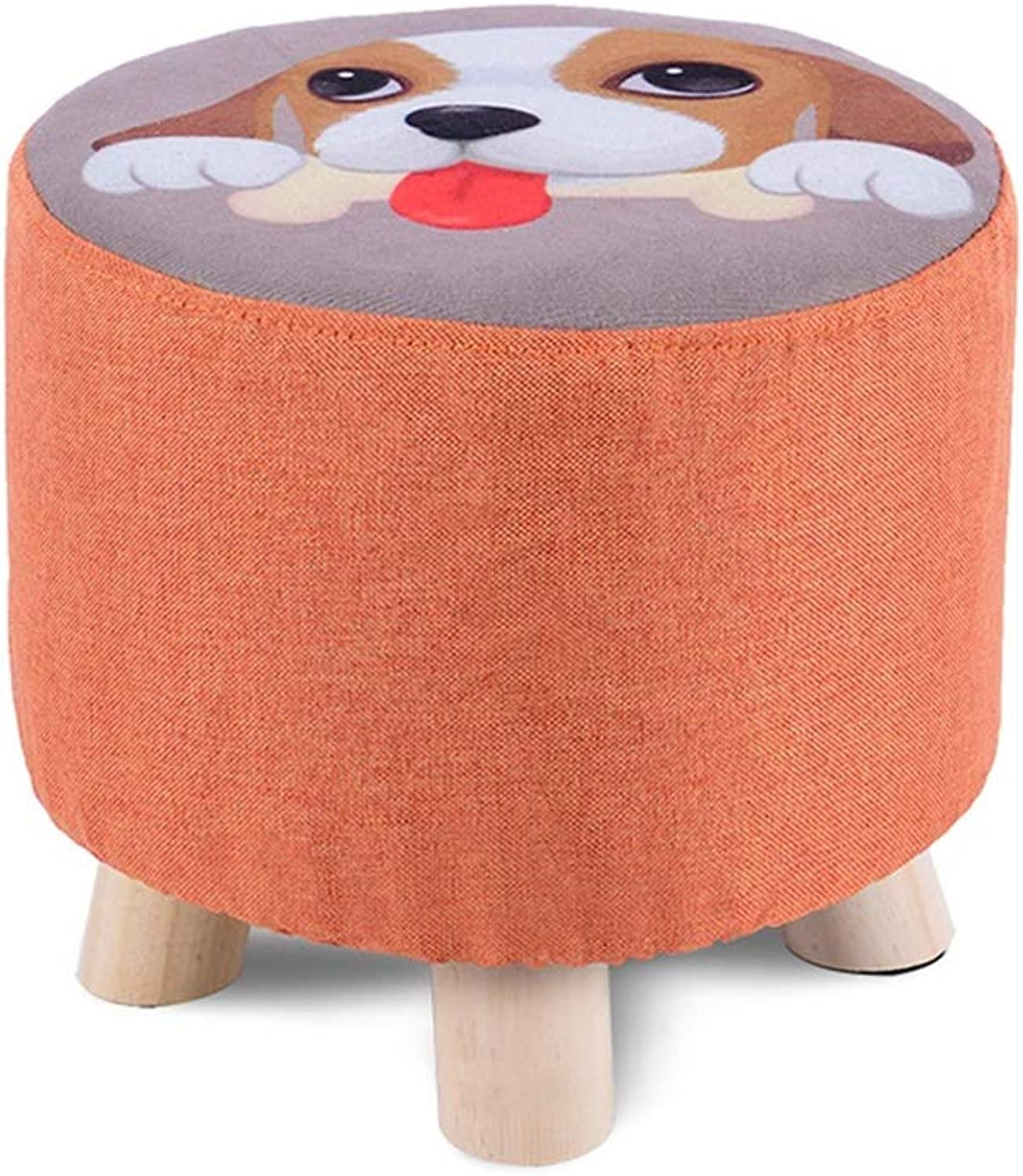 YQQ Sofa Stool, Change shoes Bench Dressing Stool Cloth Wooden Bench 28  25CM (color   1)