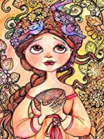 ダイヤモンド絵画ダイヤモンド刺繡ダイヤモンド刺繡キャラクター漫画の女の子クロスステッチフルダイヤモンド絵画装飾結婚式の装飾誕生日プレゼント-Yellow_30X45CM