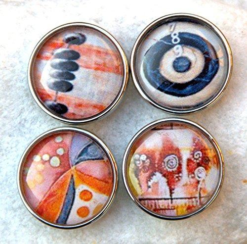 Noosa kompatibel, Click Button, Chunk, Druckknopf Peach farbigen. Der Preis ist für eine Chunk