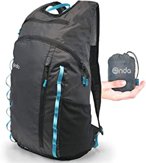 Onda Atlas 20L Packable Travel Essentials Backpack   Personal Item Carry On Bag