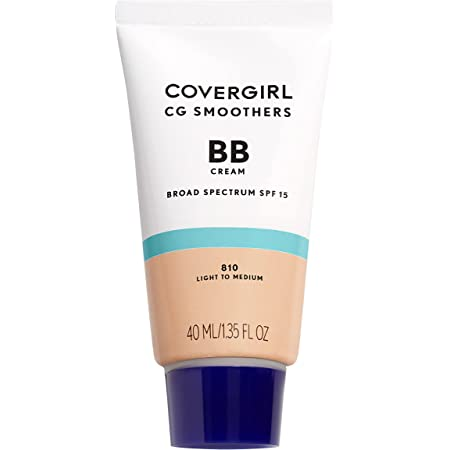 COVERGIRL Smoothers Lightweight BB Cream, 1 Tube (1.35 Ounce), Light to Medium 810 Skin Tones, Hydrating BB Cream with SPF 21 Sun Protection (Packaging May Vary)