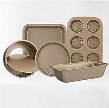 5 Piece Baking Tray Set Baking Equipment Baking Trays Set Muffin tTray, Oven Tray Cake Tray Bread Tray and Spring Cake Tin...