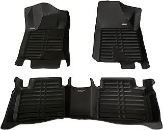 TuxMat Custom Car Floor Mats for Nissan Altima 2013-2018 Models- Laser Measured, Largest Coverage, Waterproof, All Weather.The BestNissan Altima Accessory. (Full Set - Black)