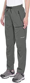 BALEAF Women's Cargo Hiking Pants Lightweight Capris Water Resistant UPF 50+ Shorts