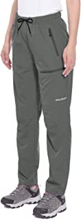 BALEAF Women's Hiking Pants Outdoor Lightweight Quick Dry Capris Water Resistant UPF 50 with Zipper Pockets