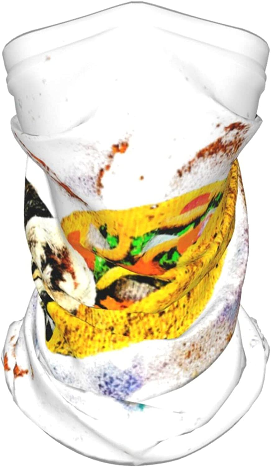 Taco Cats Space Neck Gaiter Multipurpose Headwear Ice Silk Mask Scarf Summer Cool Breathable Outdoor Sport 4 Pcs
