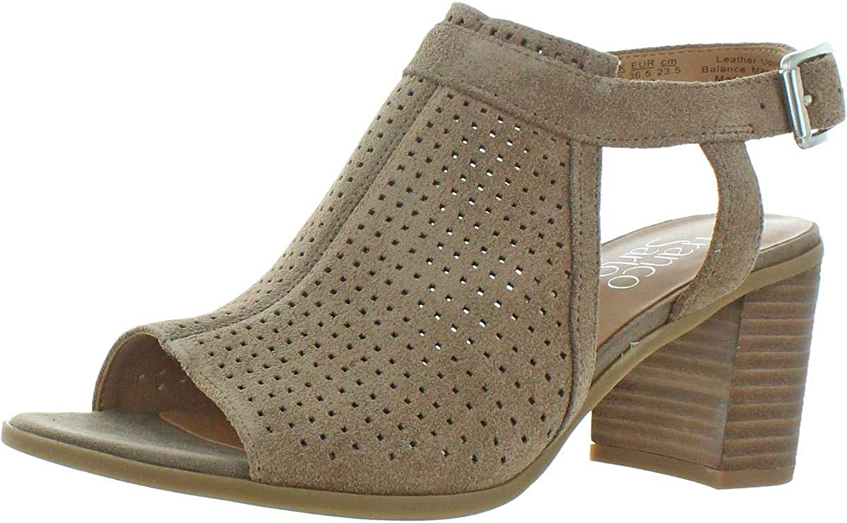 Franco Sarto Womens Harlet 2 Suede Dress Sandals Taupe 6.5 Medium (B,M)
