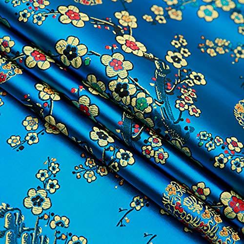 MUYUNXI Tela De Raso Forro De Tela para Vestidos De Novias Fundas Artesanías Vestidos Blusas Ropa Interior 75 Cm De Ancho Vendido por 2 Metro(Color:Lago Azul)