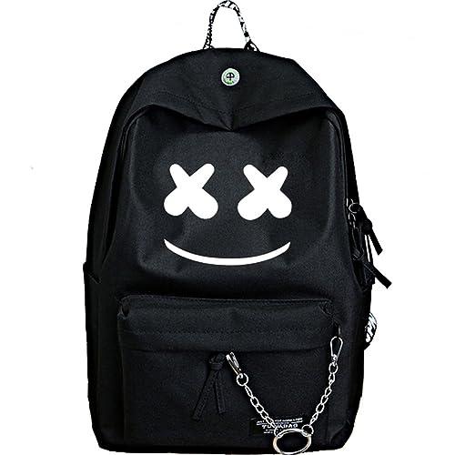 YOURNELO Boys Girls New Fashion DJ Marshmello Alan Walker Rucksack Backpack Bookbag