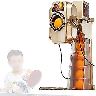 SWTY Ping Pong MáQuina Máquina de Tenis de Mesa y Red de Tenis de Mesa con función de Aviso de Voz/función de Temporizador/función de rotación múltiple, Segura y Adecuada para Juegos en Interiores y