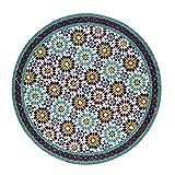 Casa Moro Marokkanischer Mosaiktisch Ankabut Ø 100cm rund mit Gestell H 73 cm Kunsthandwerk aus Marrakesch | Mediterraner Gartentisch Esstisch Balkontisch Bistrotisch MT2225