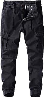 YLBH Monos Gruesos Pantalones Casuales De Talla Grande para Hombre Pantalones De AlgodóN con MúLtiples Bolsillos Pantalone...
